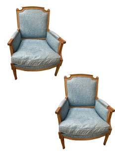 """PAIR OF VINTAGE OCCASIONAL ACCENT ARM CHAIRS 27"""""""