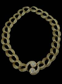 MAGNIFICENT 18K GOLD AND DIAMOND NECKLACE