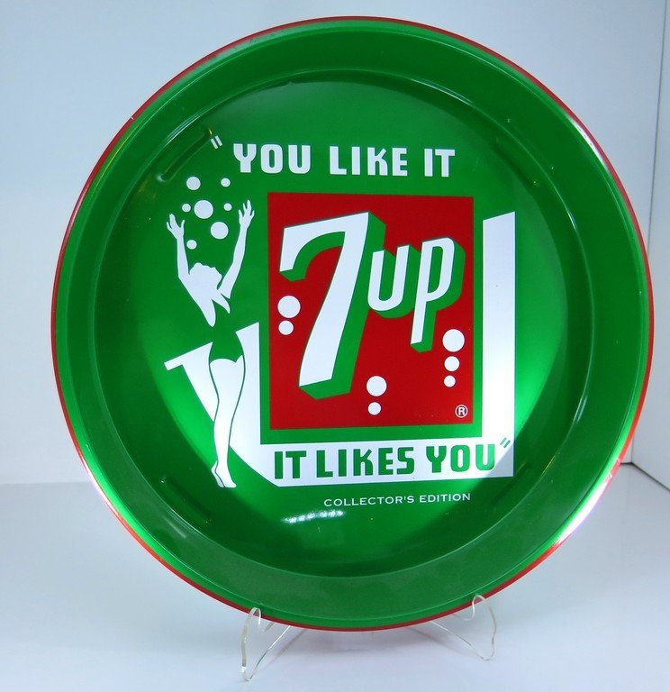 You Like it 7up Tip Bar Serving Tray 1992 Very (minimal