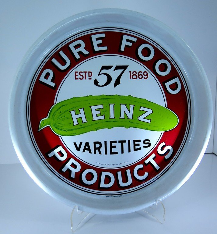 Heinz Pure Food Products Tip Serving tray 57 Estd 1869