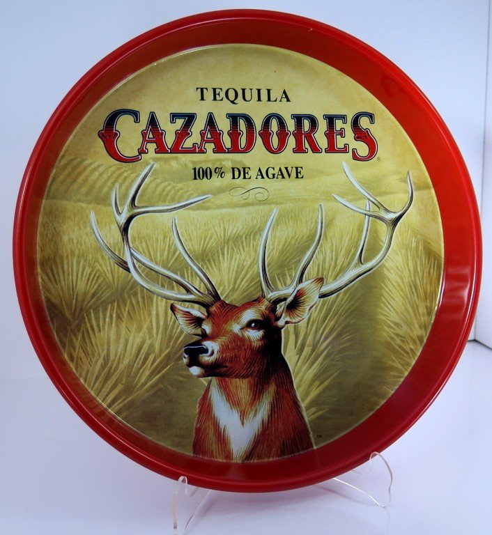 Tequila Cazadores 100% De Agave Beer Tip Serving Tray