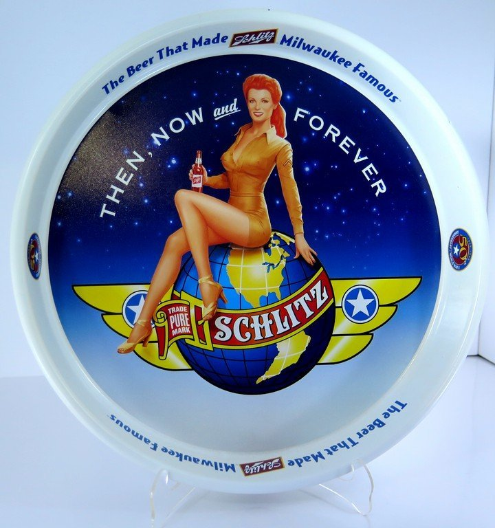 Schlitz Beer Tip Serving Tray Original Then Now and