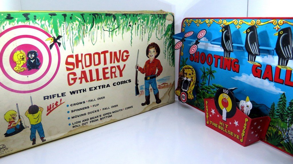 Shooting Gallery by MARX Toys Tin Metal Game Original