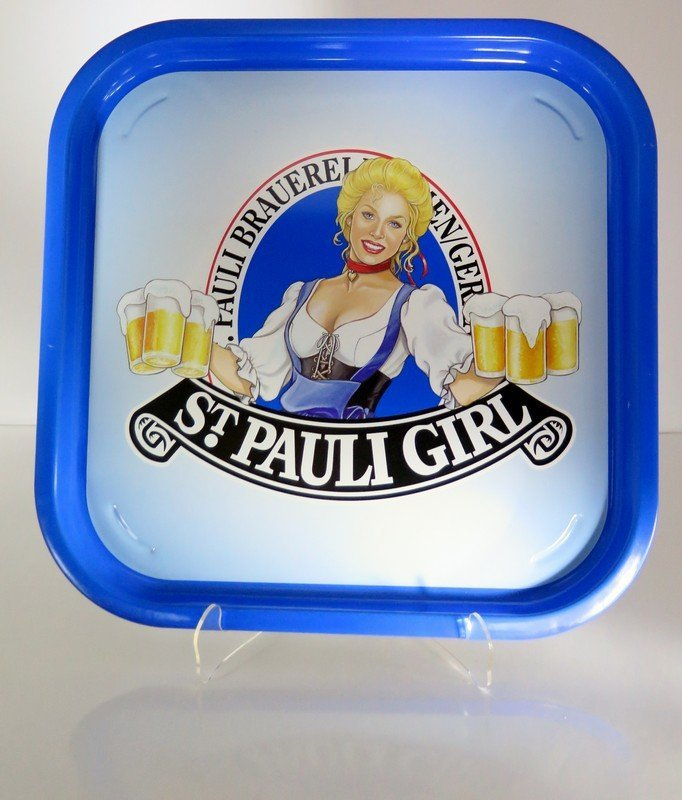 St. Pauli Girl Beer Advertising Tip Tray – German –