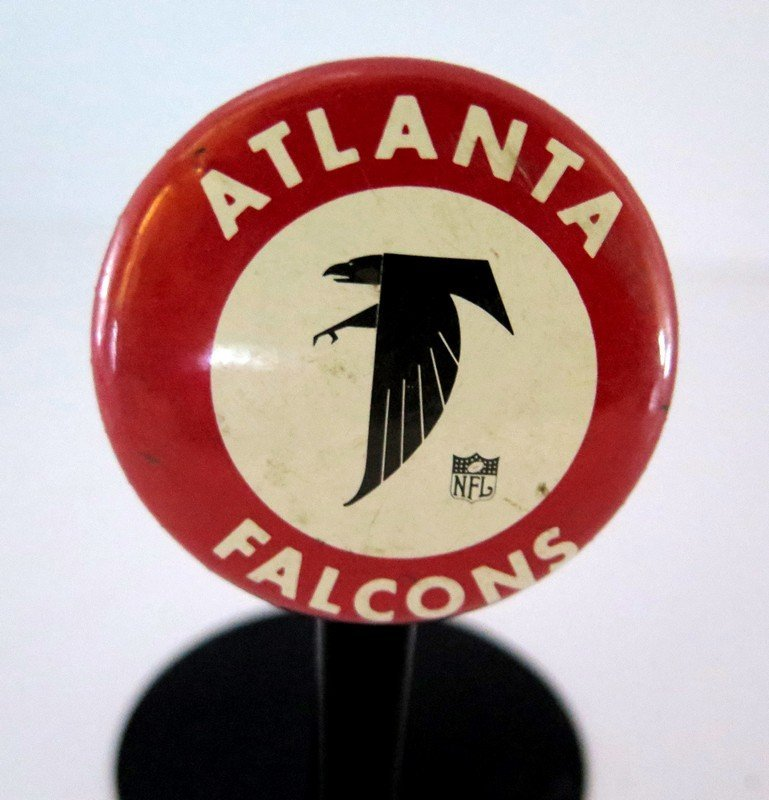 Official NFL Atlanta Falcons Pin Back Button – measures