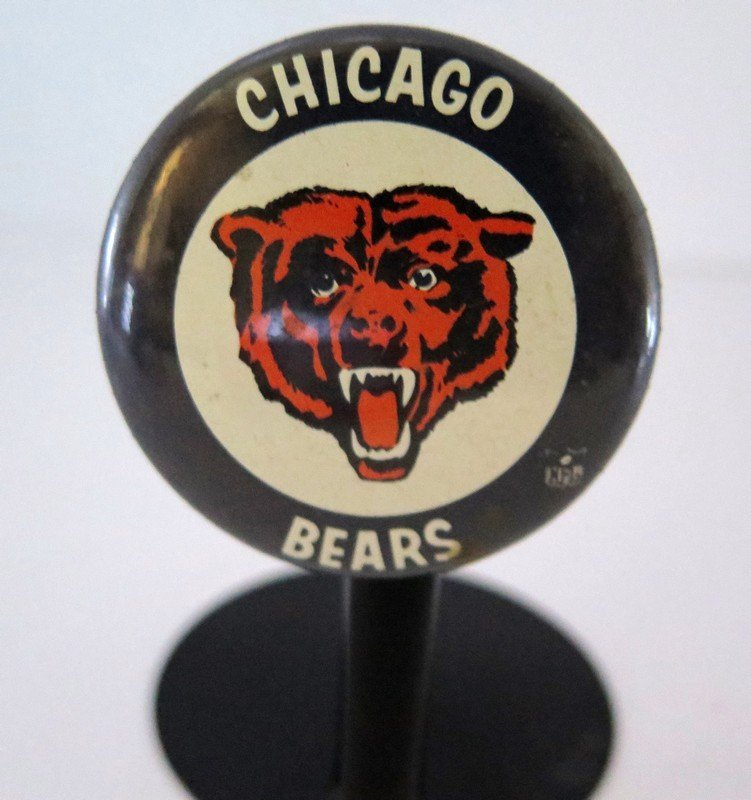 Official Chicago Bears Pin Back Button – measures 2 ¼""