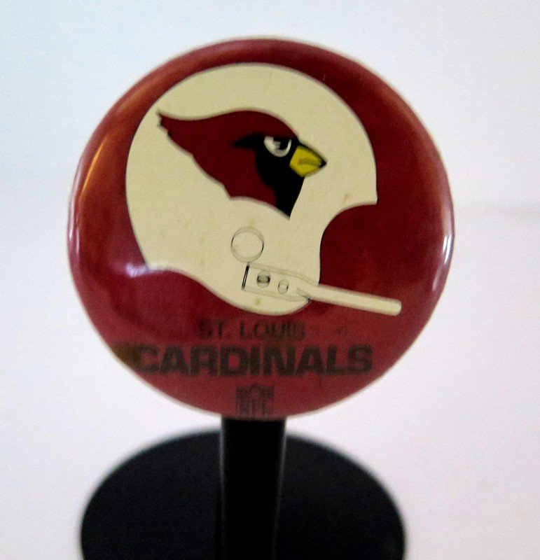 Official NFL St Louis Cardinals Pin Back Button –