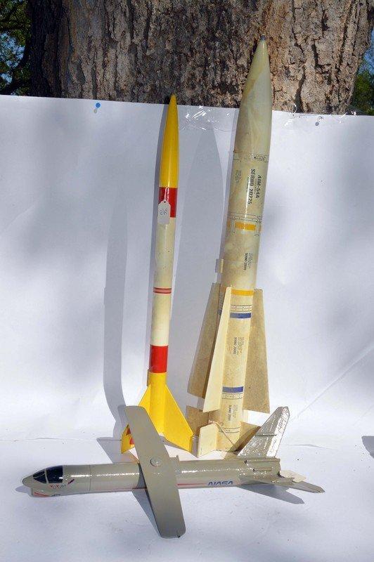 3 Vintage Model Rockets
