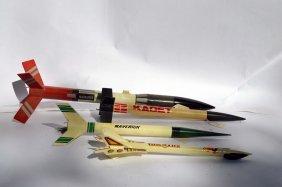 4 Vintage Model Rockets