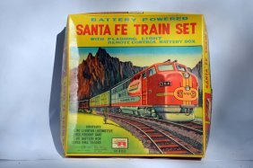 Vintage Rosko Santa Fe Train Set