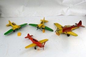 4 Vintage Hubley Airplanes