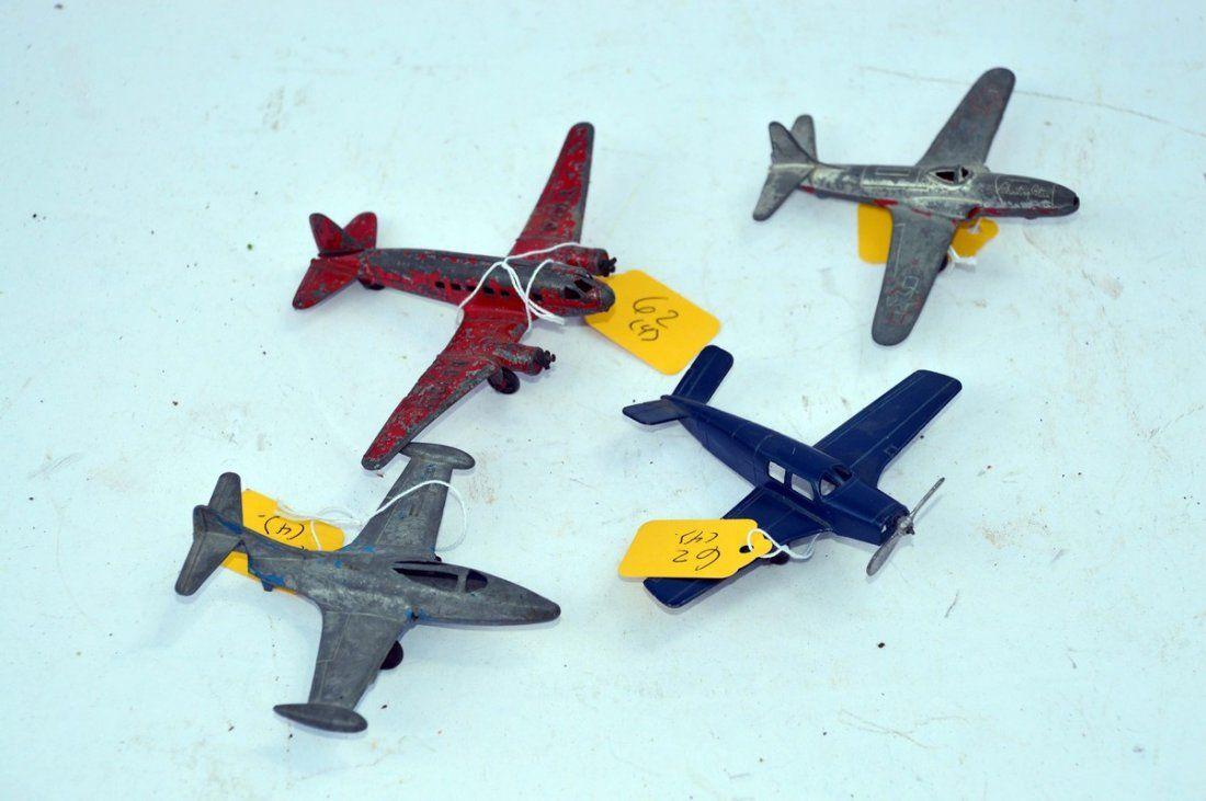 4 Vintage Metal Airplanes
