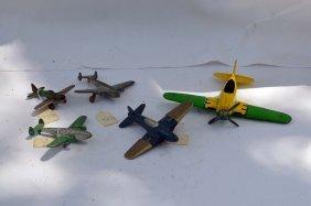 5 Vintage Hubley Airplanes
