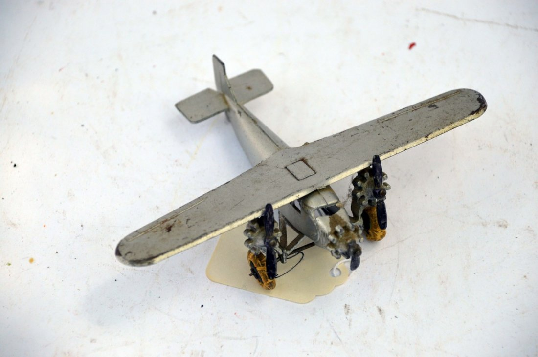 Vintage Metal High wing Twin Engine Plane