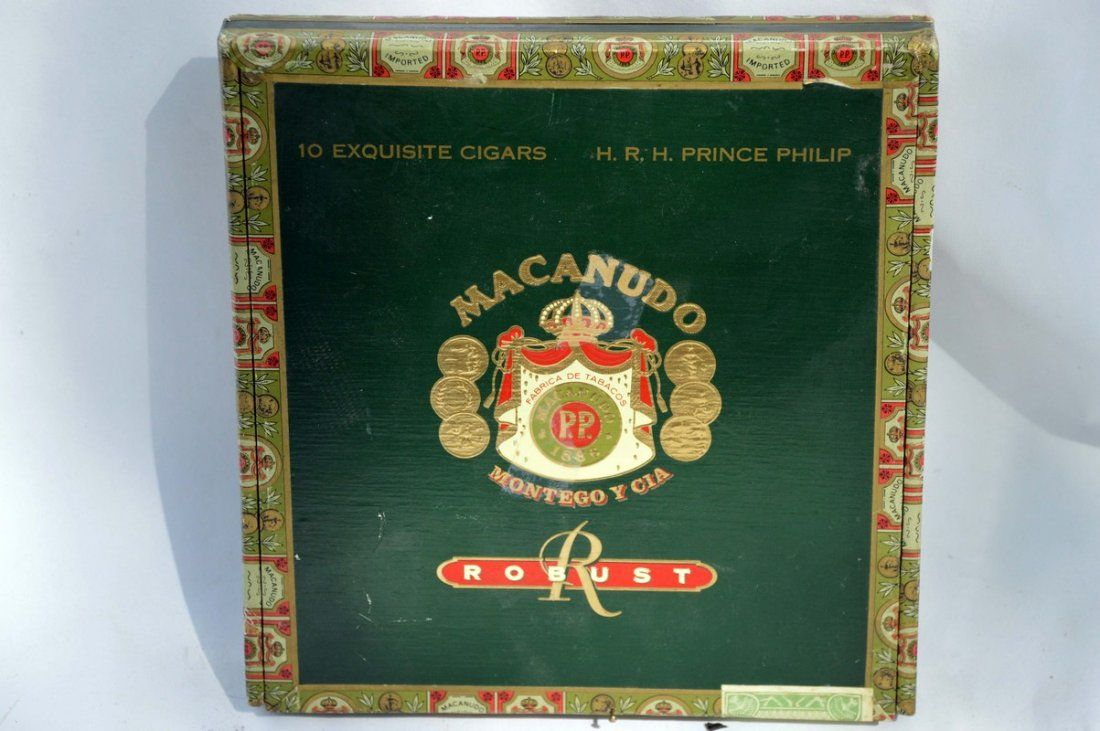 H.R.H Vintage Prince Philip Cigar Box and Cutter