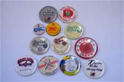 12 Vintage Pin Backs