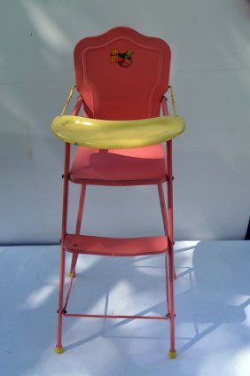 Vintage Metal Doll-e-bed High Chair