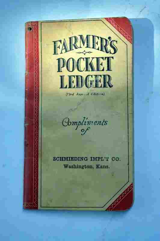 Antique Farmers Pocket Ledger