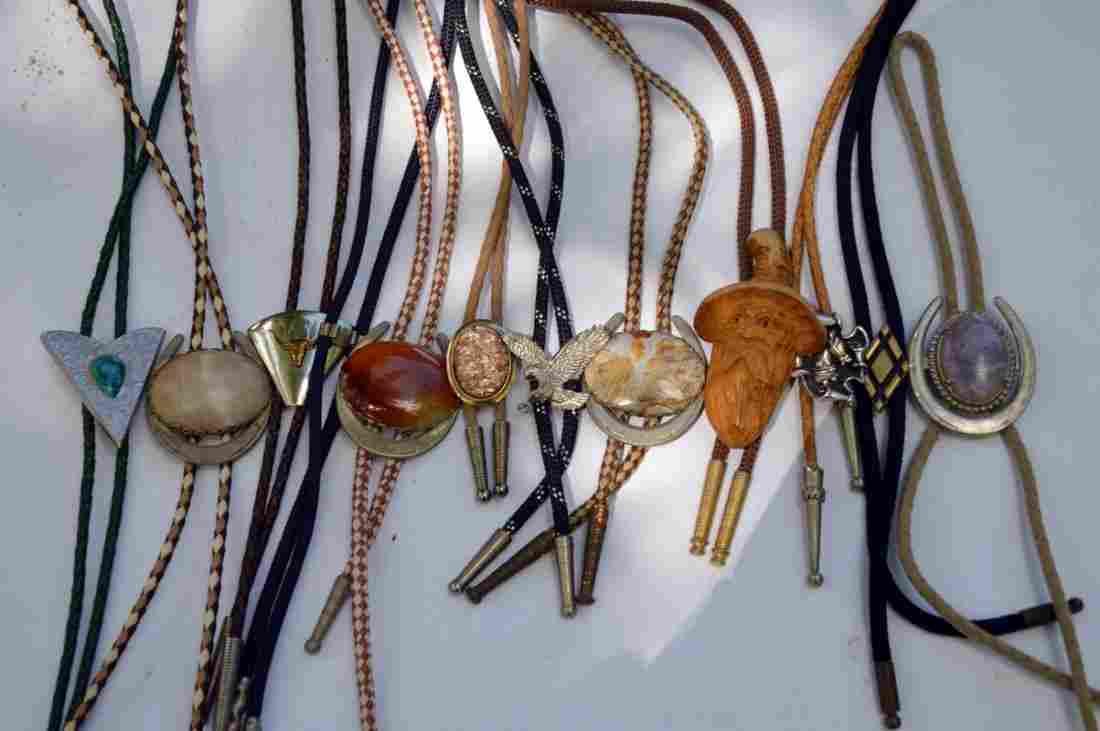 10 Vintage Western Bolo Ties