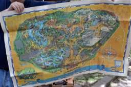 Vintage 1966 Walt Disney Park Map
