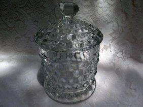 Fostoria American Cookie Jar
