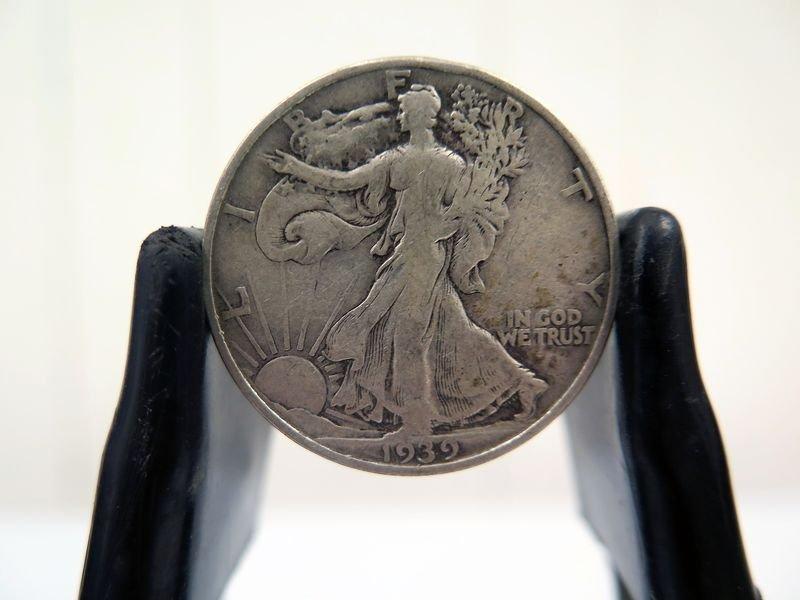 1939-D Silver Walking Liberty Half Dollar