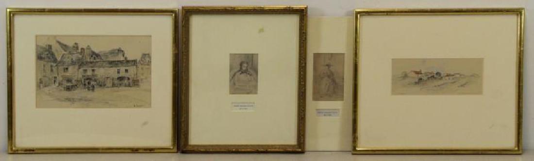 VAUTHRIN, E. & A. LELEUX. Lot of Four 19th C.