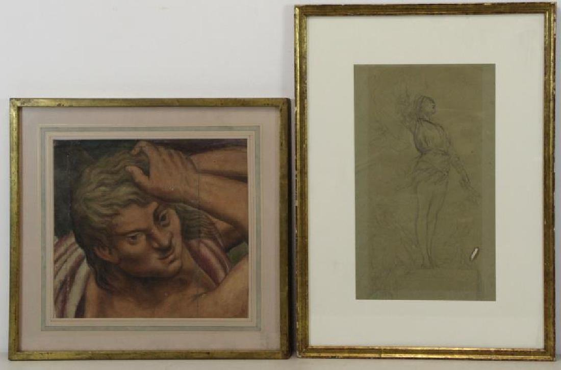 Lot of Two 18th/19th C. Works on Paper.