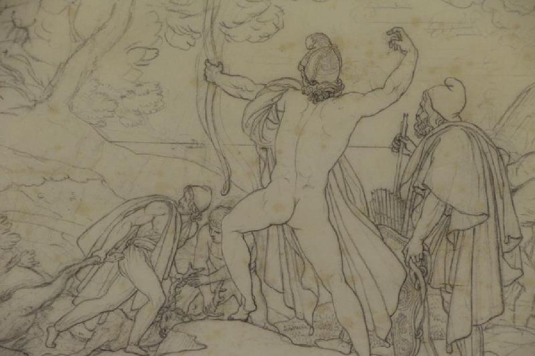 Lot of Two 19th C. Neoclassical Works on Paper. - 5