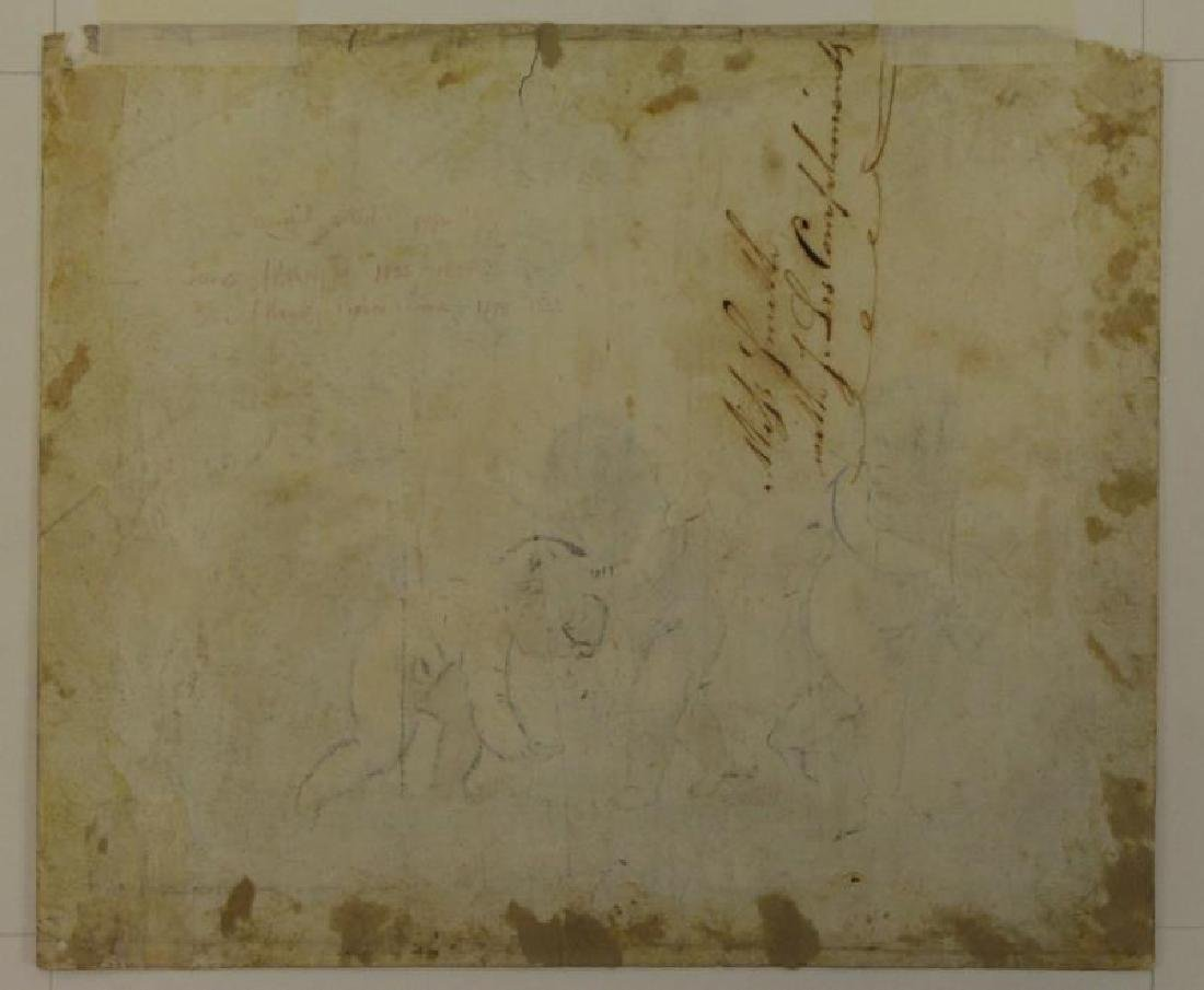 Lot of Three 18th/19th C. Drawings. - 10
