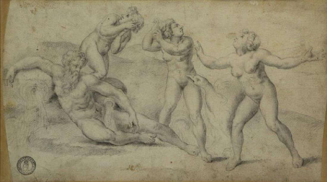 Lot of Three 18th/19th C. Drawings. - 2