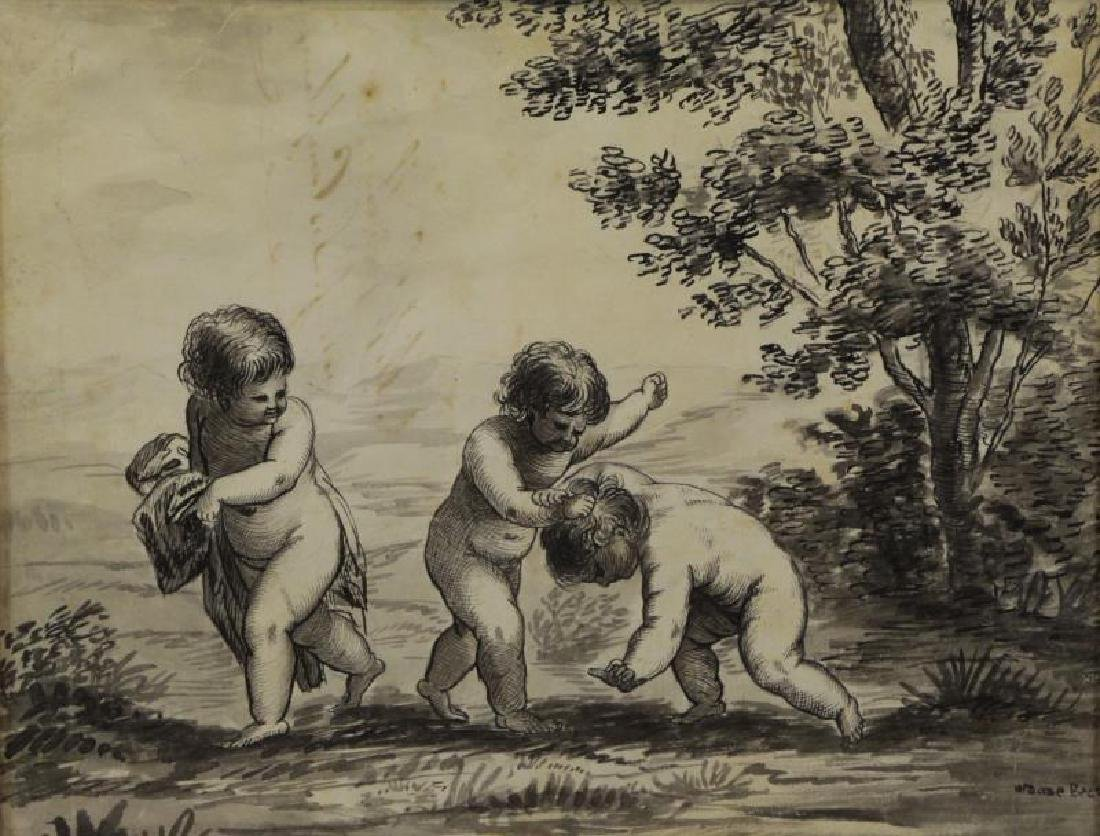 Lot of Three 18th/19th C. Drawings. - 8