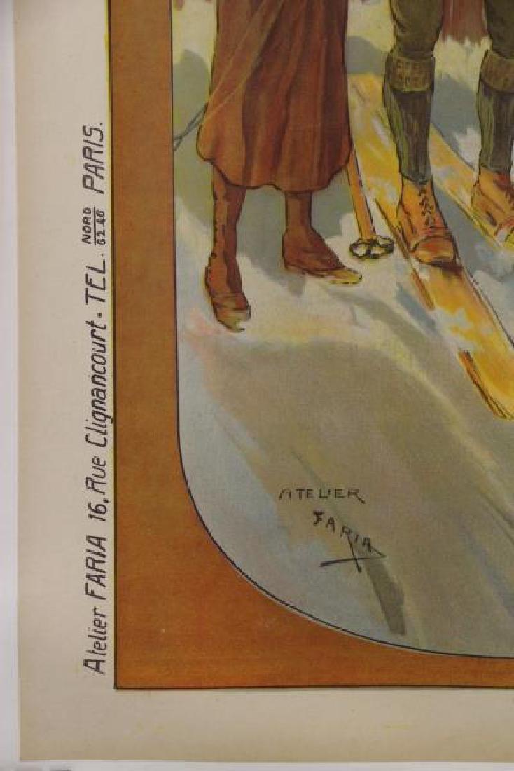 "FARIA, Candido A. Color Lithograph ""CACHAT'S - 3"