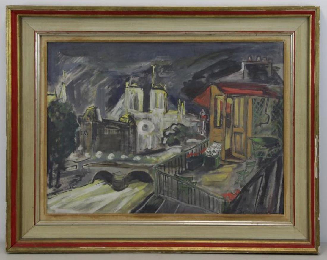 BEMELMANS, Ludwig. Gouache on Paper. View of Paris - 2