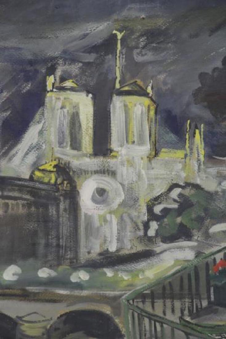 BEMELMANS, Ludwig. Gouache on Paper. View of Paris - 3