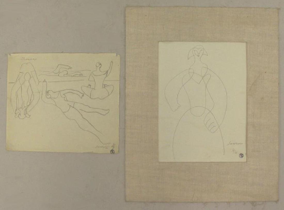 SURVAGE, Leopold. Two Pencil Drawings.