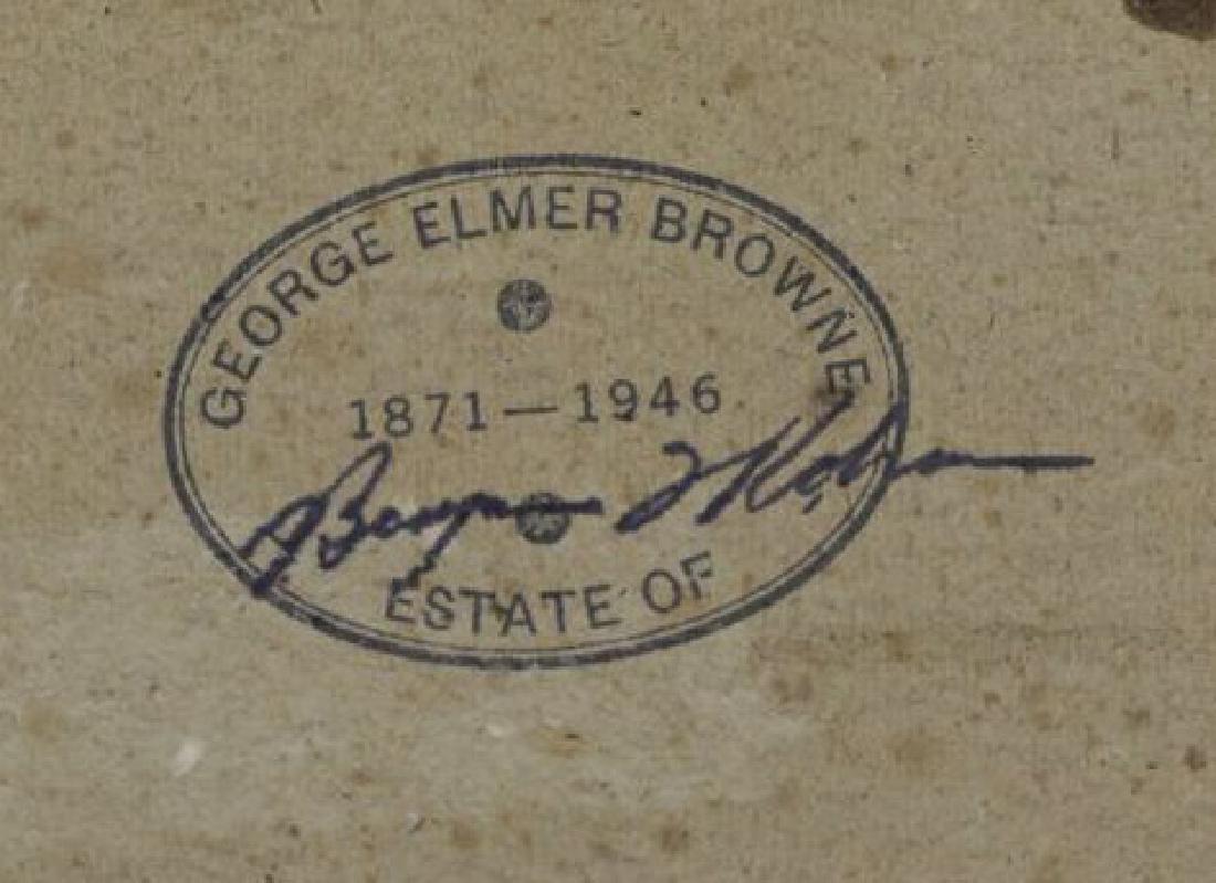 """BROWNE, George Elmer. Oil on Board """"Low Tide"""". - 5"""