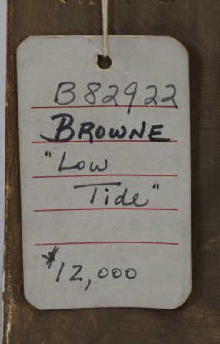 """BROWNE, George Elmer. Oil on Board """"Low Tide"""". - 6"""