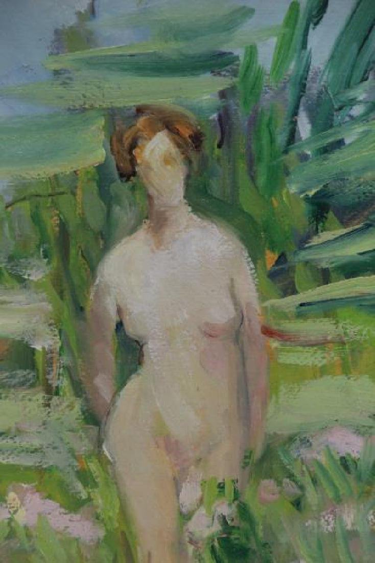LAUTER, Flora. Oil on Board. Nudes in a Garden. - 3