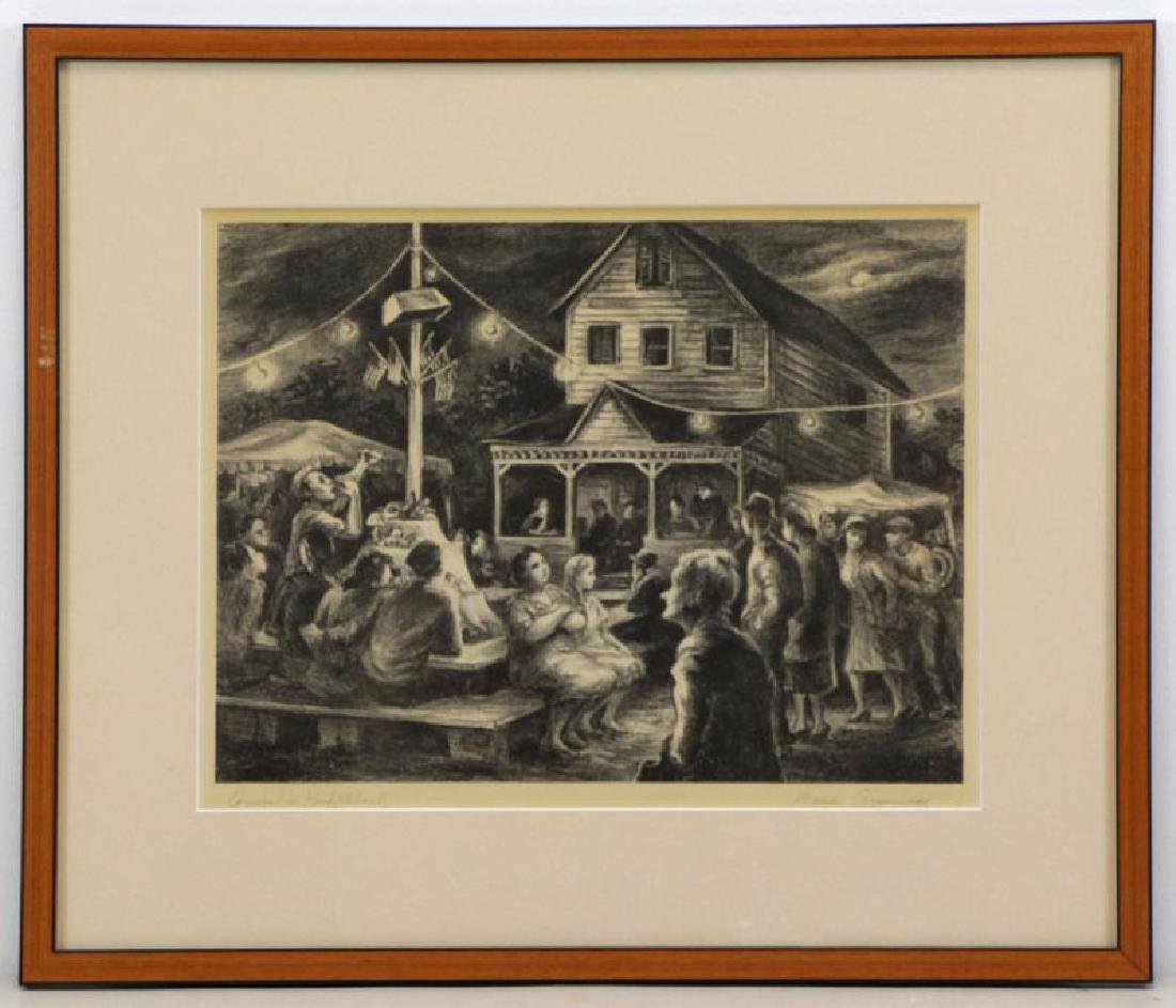 """GREENWOOD, Marion. Lithograph """"Carnival in - 2"""