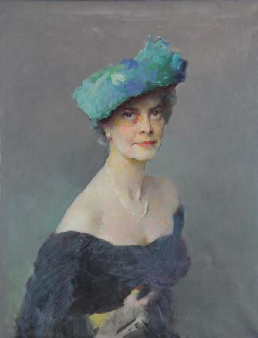 ROMANOVSKI, Dimitri. Oil on Canvas. Portrait of