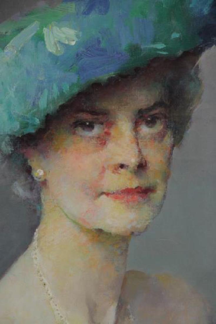 ROMANOVSKI, Dimitri. Oil on Canvas. Portrait of - 3
