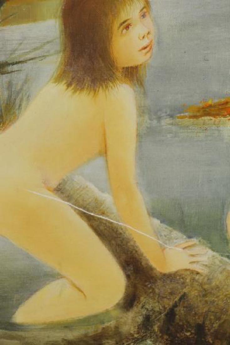 LAVARENNE, Pierre. Oil on Canvas. Nude Bathers. - 3