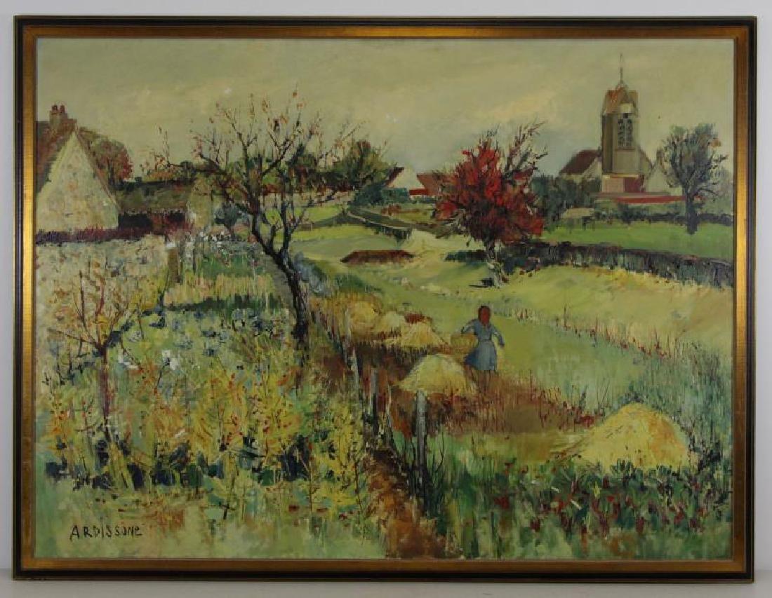 "ARDISSONE, Yolande. Oil on Canvas. ""Fillette dans - 2"