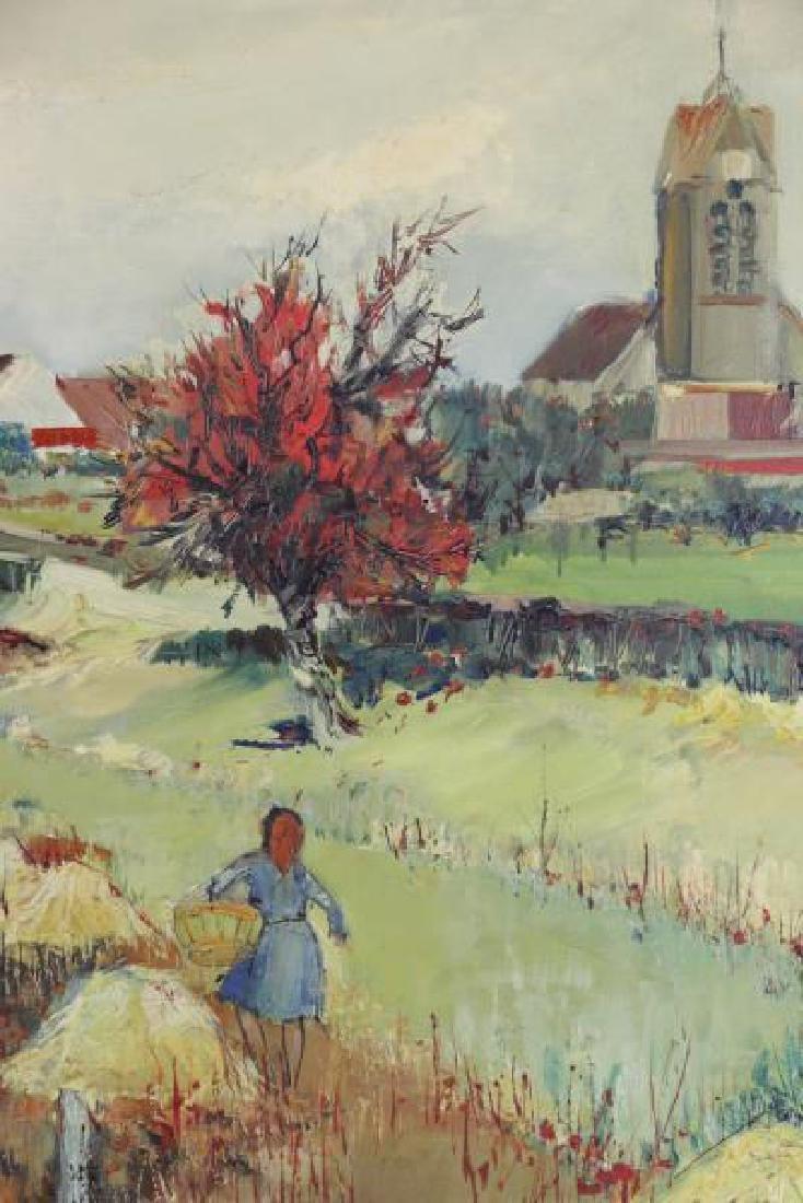 "ARDISSONE, Yolande. Oil on Canvas. ""Fillette dans - 3"