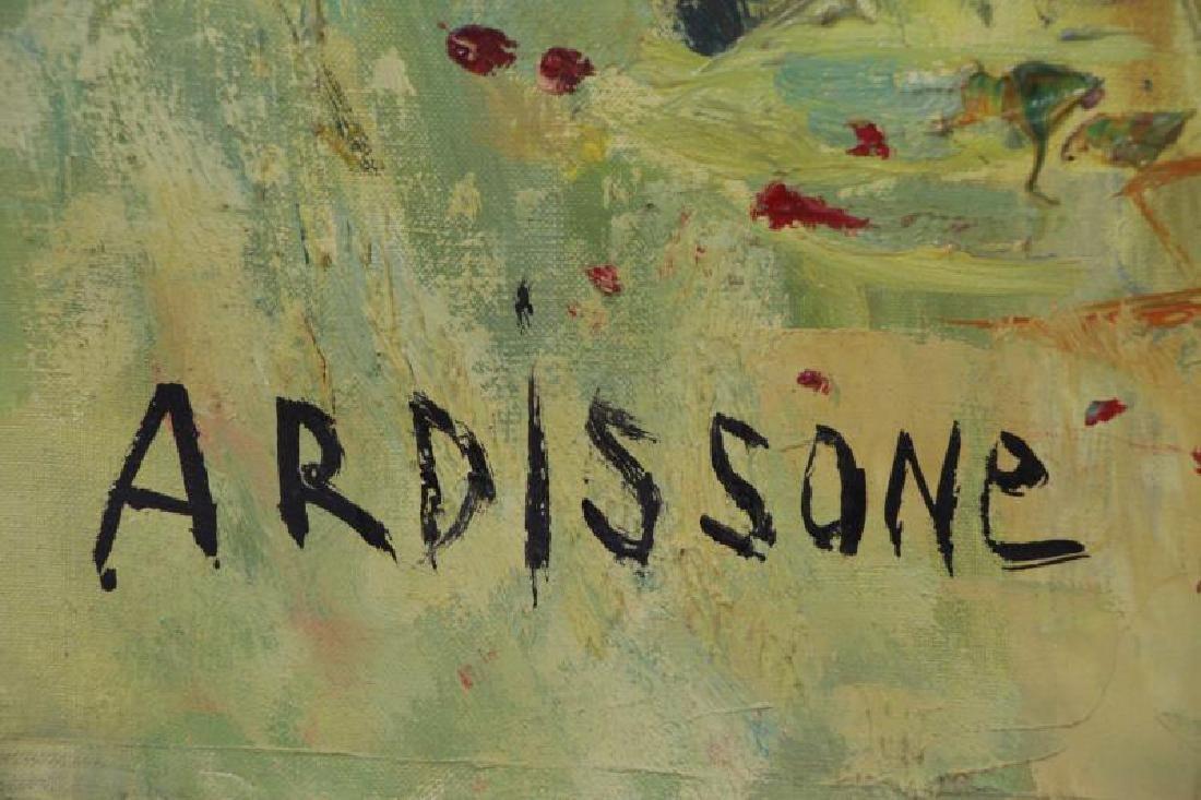 "ARDISSONE, Yolande. Oil on Canvas. ""Fillette dans - 7"