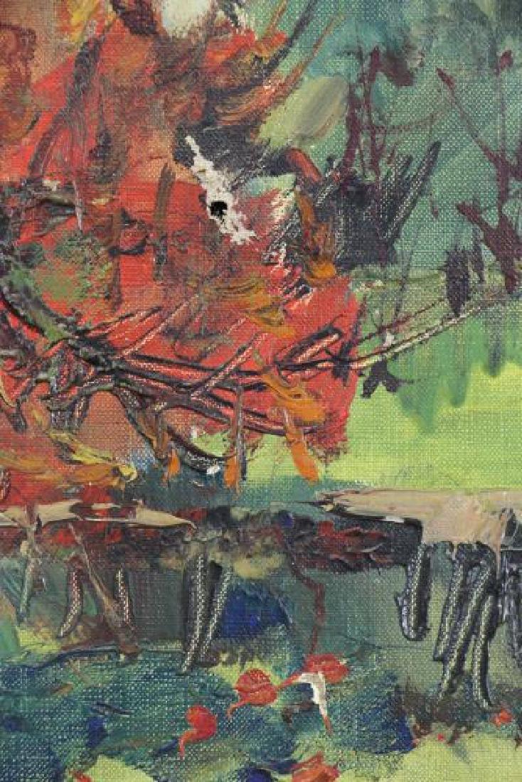"ARDISSONE, Yolande. Oil on Canvas. ""Fillette dans - 8"
