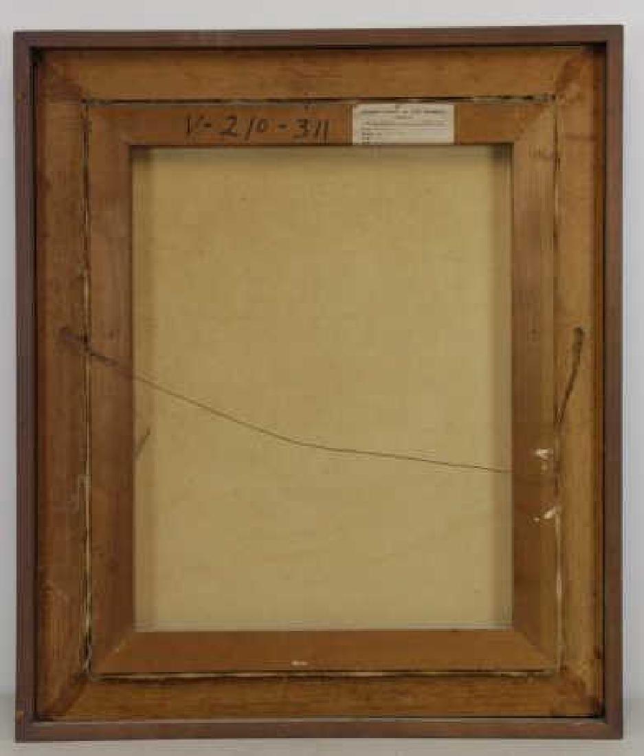"""VEZCALI, Luis. Oil on Canvas """"Nina Con Gato"""" 1961. - 7"""