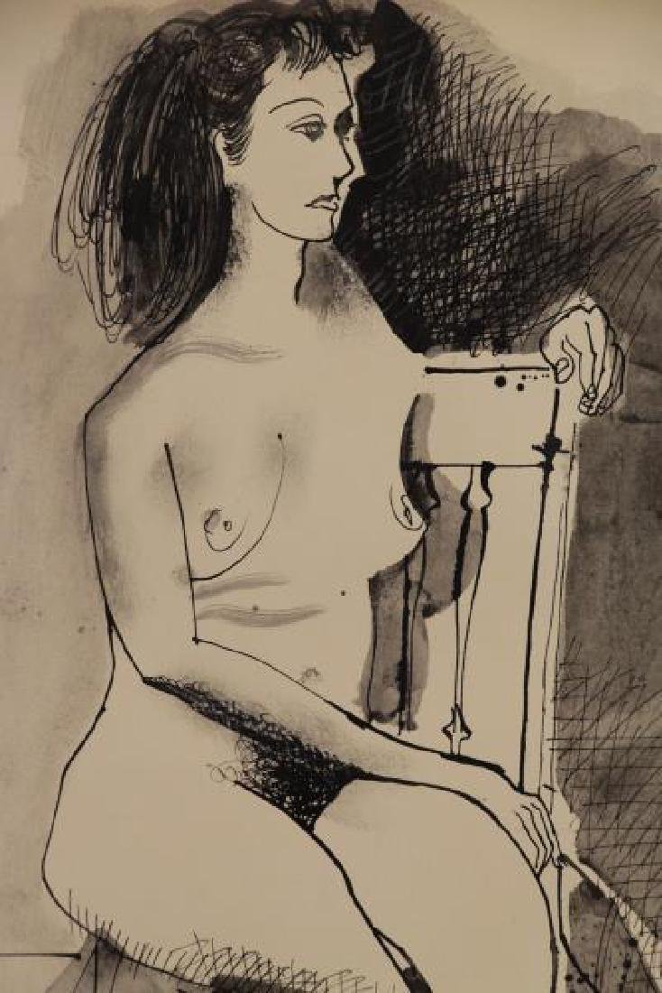 BROWNE, Byron. Ink on Paper. Two Seated Nudes. - 4