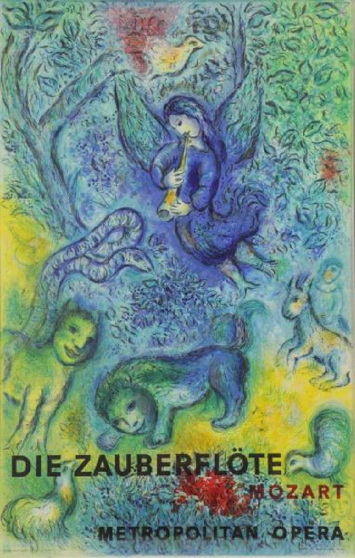 CHAGALL, Marc. Magic Flute Lithograph in Colors by
